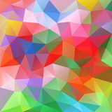 Vector polygon background triangular pattern spring colorful spectrum colors. Vector abstract irregular polygon background with a triangular pattern in spring stock illustration