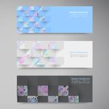 Vector polygon banner white 8.09.13 Stock Photography
