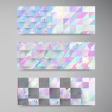 Vector polygon banner white 8.09.13 Royalty Free Stock Image