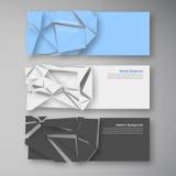 Vector polygon banner white 8.09.13 Royalty Free Stock Photos