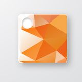 Vector polygon brochure. Abstract background Royalty Free Stock Photos