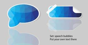 Vector polygon bubble speech Royalty Free Stock Photography