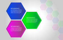 Vector polygon infographic Royalty Free Stock Photos