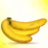 Vector polygon mosaic of yellow bananas Royalty Free Stock Photography