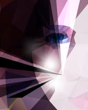 Vector polygon shape half face woman background Stock Photo