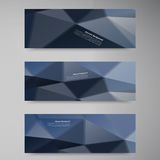 Vector polygon stown set banner 6.09.13. Vector abstract background. Origami geometric and Polygon Royalty Free Illustration