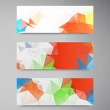 Vector polygon stown set banner 2 11.09.13. Vector abstract background. Origami geometric and Polygon Royalty Free Stock Image