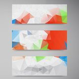Vector polygon stown set banner 2 11.09.13. Vector abstract background. Origami geometric and Polygon Stock Photography