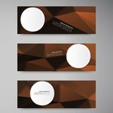 Vector polygon stown set banner 6.09.13. Vector abstract background. Origami geometric and Polygon Vector Illustration