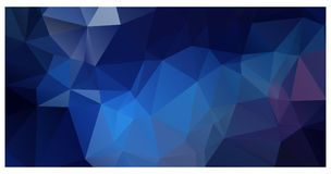 Vector polygon triangle mosaic background in dark colors Stock Photo
