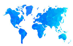 Vector polygon world map illustration Royalty Free Stock Photo