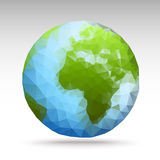 Vector polygon world spheres Royalty Free Stock Image