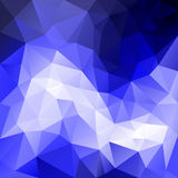 Vector polygonal background triangular design in blue sky colors - ocean, sea, water Royalty Free Stock Images
