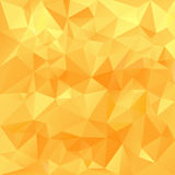 Vector polygonal background triangular design in honey sunny colors - yellow, orange Royalty Free Stock Image