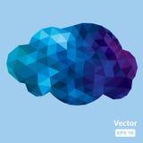 Vector polygonal cloud Stock Photos