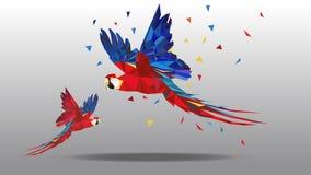 Vector polygonal illustration of animal royalty free illustration