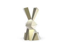 Vector polygonal illustration of rabbit, hare Stock Image