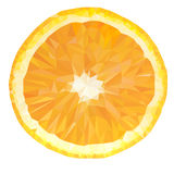 Vector Polygonal Orange Fruit Icon Royalty Free Stock Image