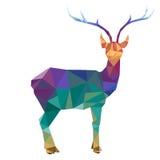 Vector polygonal silhouette of deer Royalty Free Stock Photos