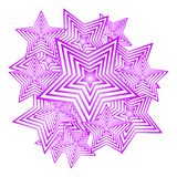 Vector polygonal stars on a white background. stock photography