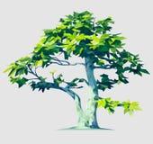 Vector Polygonal Tree Illustration vector illustration
