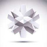 vector polygonaler geometrischer Gegenstand 3D, abstraktes Gestaltungselement, c Stockfoto
