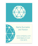 Vector Polyhedron Flat Design Business Cards. Illustration Royalty Free Stock Images