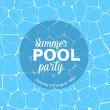 Vector pool party template Royalty Free Stock Photo