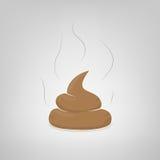 Vector poop illustration. Vector stinky dog poop illustration Royalty Free Stock Image
