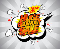 Vector pop-art banner, Huge blowout sale Royalty Free Stock Photography