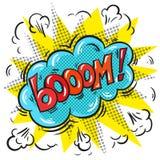 Vector pop art comic speech bubble with Boom word Royalty Free Stock Photos