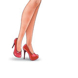 Vector pop art illustration of female legs Stock Image