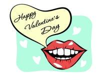 Vector Pop Art Valentine & x27; s de Lay-out van de Dagkaart Royalty-vrije Stock Afbeeldingen