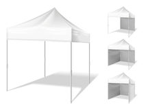 Vector pop up tent for outdoor event Royalty Free Stock Photography