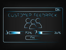 Vector of pop-up window with customer feedback Royalty Free Stock Photography