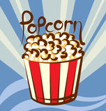 Vector Popcorn Stock Photography