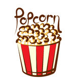 Vector Popcorn Stock Images