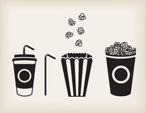 Vector popcorn set Royalty Free Stock Photos