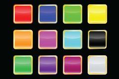 Vector popular color buttons Stock Images