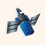 Vector por satélite de los elementos del tema del espacio, EPS ilustración del vector