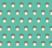 Vector Porcini Mushrooms Flat Design Illustration Pattern stock photo
