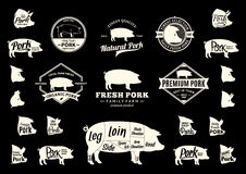 Vector Pork Logo, Icons, Charts and Design Elements Stock Photography