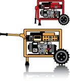 Vector portátil del generador ilustración del vector
