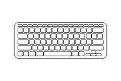Vector portable computer keyboard Stock Image