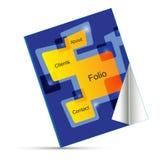Vector portfolio book. Vector portfolio and business book Royalty Free Stock Photo