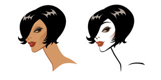 Vector portrait of a beautiful girl. Vector portrait of a girl with hair-styling Royalty Free Stock Photos