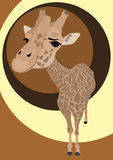 Vector portrait of cute giraffe Stock Photo