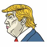 Vector Portrait of Donald Trump Stock Images