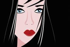 Vector portrait geisha stock photo