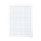 Vector portrait orientation engineering graph paper Royalty Free Stock Image